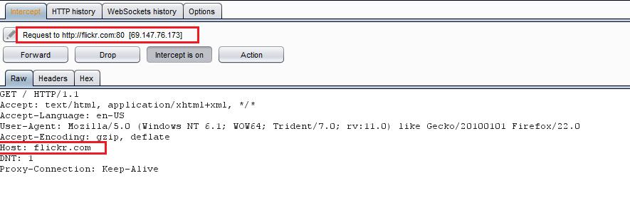1.1 - Intercept the request